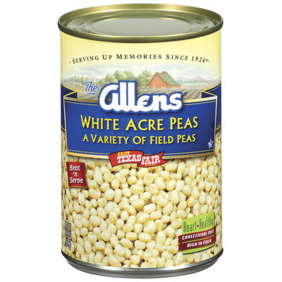 The Allens White Acre Variety of Field Peas Peas 15.5 Oz Can
