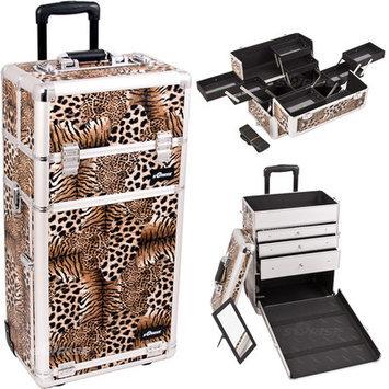 Just Case Sunrise I3663LPBR Leopard Trolley Makeup Case