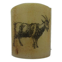 Starhollowcandleco Goat Graphic Flameless Candle Size: Votive