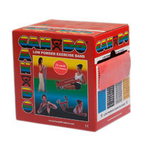 CanDo 10-5272 Low Powder Exercise Band 25 Yard Roll Red Light