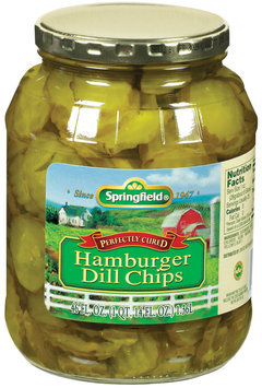 Springfield Hamburger Dill Chips Pickles 46 Fl Oz Jar