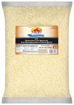 Alto® Diced Muenster & Low Moisture Part Skim Mozzarella Cheese Blend Cheese 5 Lb Bag