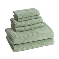 American Dawn Inc New Cambridge Quick Dry 6 Piece Towel Set Color: Fern