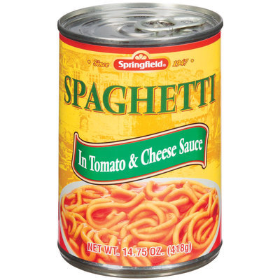 Springfield In Tomato & Cheese Sauce Spaghetti 14.75 Oz Pull-Top Can