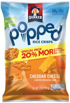 Quaker® Popped® Cheddar Cheese Rice Crisps 7.2 oz. Bag
