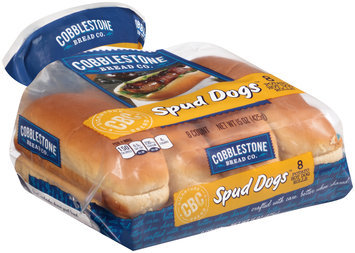 Cobblestone Bread Co.™ Spud Dogs™ Potato Hot Dog Rolls 15 oz. Bag