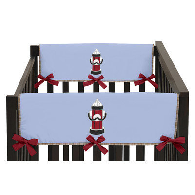 Sweet Jojo Designs Frankie's Firetruck Side Crib Rail Guard Cover