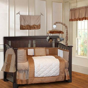 Babyfad Minky Unisex Baby 10 Piece Crib Bedding Set Color: Brown