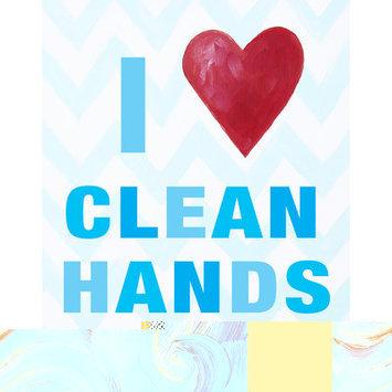 Cici Art Factory I Heart Clean Hands Print Art Color: Blue