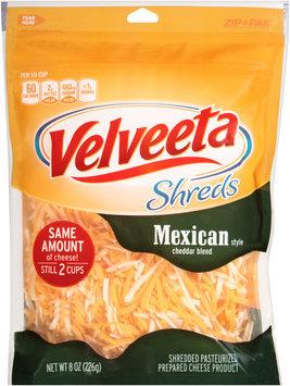 Velveeta Shreds Mexican Style Cheddar Cheese Blend 8 oz. ZIP-PAK®