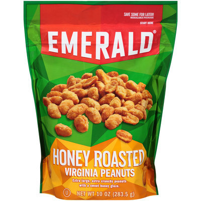 Emerald® Honey Roasted Virginia Peanuts 10 oz. Stand-Up Bag