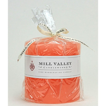 Mill Valley Candleworks Grapefruit Scented Pillar Candle Size: 4