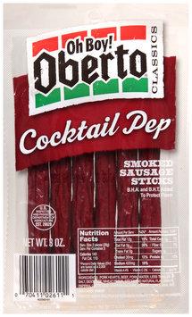 Oh Boy! Oberto® Classics Cocktail Pep® Smoked Sausage Sticks 3 oz. Bag