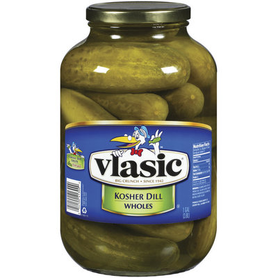Vlasic Kosher Dill Wholes Fresh Pack Pickles 1 Gal Jar