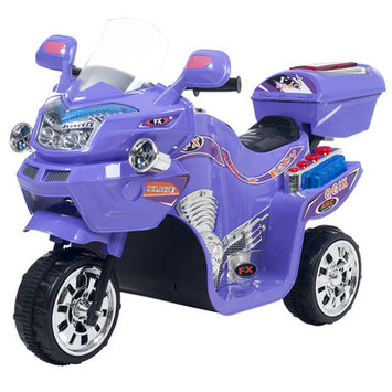 Trademark Global Games Lil Rider 3-wheel Purple FX Battery Operated Motorcycle