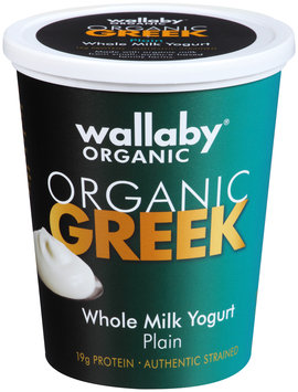 Wallaby® Organic Greek Whole Milk Plain Yogurt 32 oz. Tub