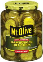 Mt. Olive Hamburger Dill Chips Mini Stuffers Fresh Pack Pickles 32 Oz Jar