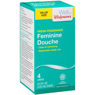 Well at Walgreens Fresh Fragrance Feminine Douche 4-4.5 fl. oz. Bottles