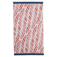 Sferra Edgewater Beach Towel Color: Salmon