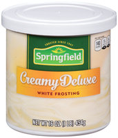 Springfield® Creamy Deluxe White Frosting 16 oz. Canister