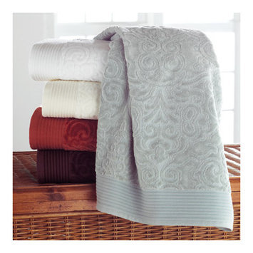 Peacock Alley PRK-G-IVR Park Avenue Guest Towel in Ivory