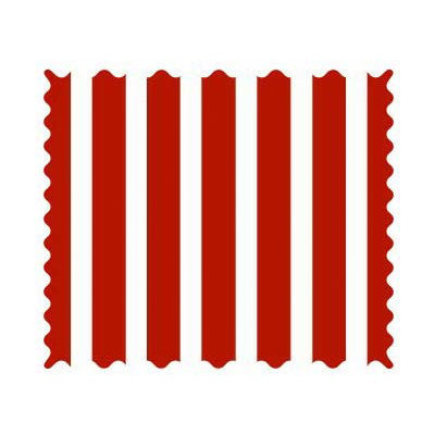 Stwd Primary Stripe Woven Fabric by the Yard Color: Red