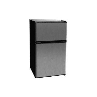 Kegco MDC315-2BS - 3.1 CF Two Door Counterhigh Refrigerator - Black with Stainless Steel Door