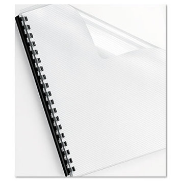 Fellowes Futura Lined Clear Oversize Binding Covers, 25 Pack