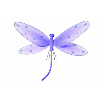 Heart To Heart Sequined Hanging Dragonfly - Size: Large, Color: Purple