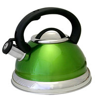 Prime Pacific Green Stainless Steel 3-quart Whistling Tea Kettle