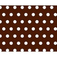 Stwd Polka Dots Crib Sheet Color: Brown