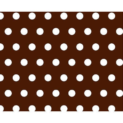 Stwd Polka Dots Crib Sheet Color: Brown