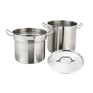 Master Cook Double Boiler w/Cover 12 quart 18/8 stainless steel with 5mm. thick