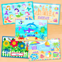 Olive Kids Girls Five Pack Summer Fun Personalized Placemat