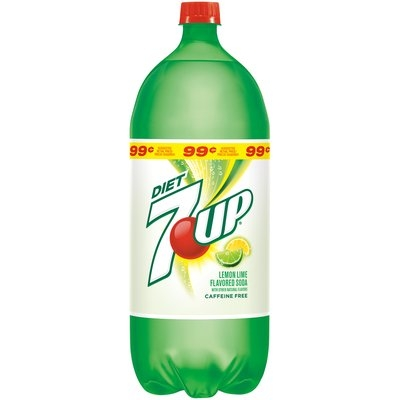 7UP Diet Soda 2L Plastic Bottle