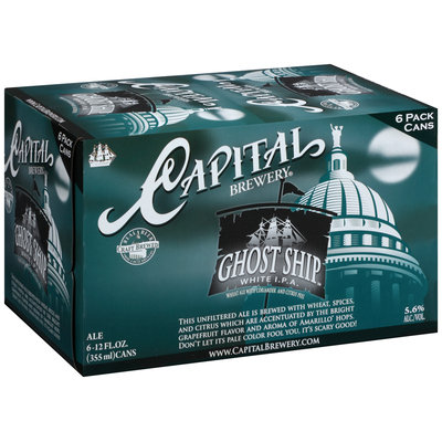 Capital Brewery® Ghost Ship™ White IPA 6-12 fl.oz. Cans