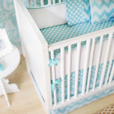 New Arrivals Zig Zag Baby 4 Piece Crib Bedding Set Color: Aqua