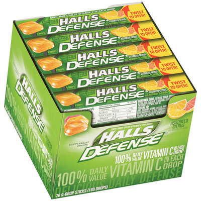 Halls Defense® Assorted Citrus Vitamin C Supplement Drops 20 9 ct Packs