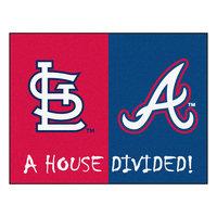 Sls Mats Fan Mats Mlb Cardinals Braves Divided Rugs 34X45