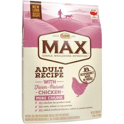 Nutro™ Max™ Adult Recipe with Farm-Raised Chicken Mini Chunk Dog Food 25 lb. Bag
