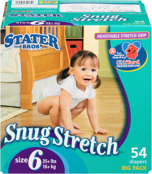 Stater Bros.® Snug Stretch Size 6 Diapers 54 ct. Box