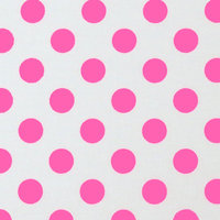 Stwd Neon Polka Dots Portable Mini Fitted Crib Sheet Color: Pink