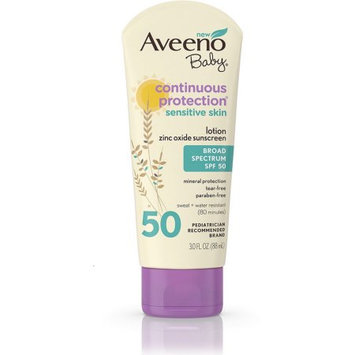AVEENO® Baby Continuous Protection® Sensitive Skin Zinc Oxide Sunscreen SPF 50