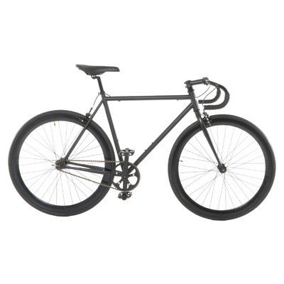 Vilano Attack Fixed Gear Bike Track Bike Matte Black Medium (54cm)