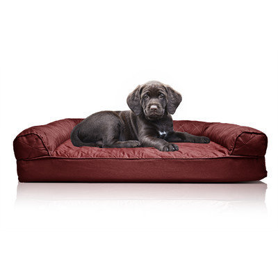 Zoey Tails Quilted Orthopedic Sofa-Style Dog Bed Color: Wine Red, Size: Extra Large(44