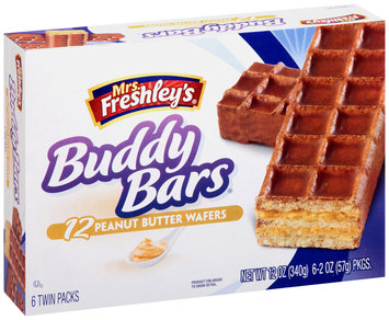 Mrs. Freshley's® Peanut Butter Wafers Buddy Bars® 6-2 oz. Packs