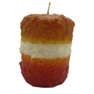 Starhollowcandleco Candy Corn Pillar Candle Size: Hearth Fatty 5.5