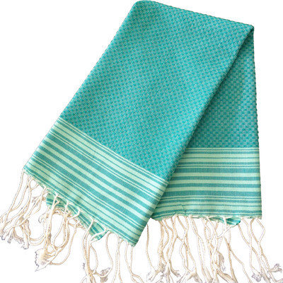 Scents And Feel Honey Comb Fouta Hand Towel (Set of 2) Color: Emerald Green / Light Green