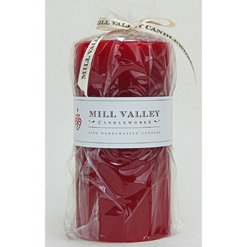 Mill Valley Candleworks Red Currant Scented Pillar Candle Size: 6
