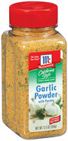 McCormick® California Style Coarse Grind Blend Garlic Powder with Parsley 12.5 oz Shaker